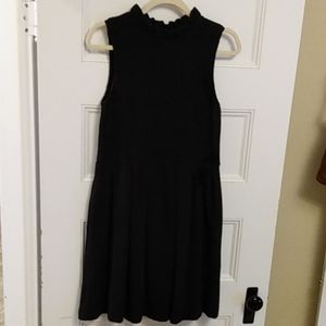 ANTHROPOLOGIE Black party dress A-line